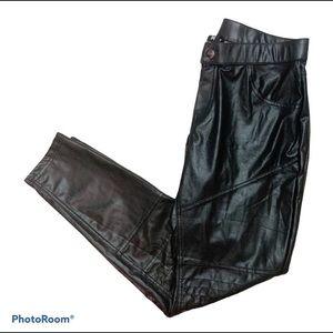 HUE Faux Leather Skinny Pleather Legging Pants
